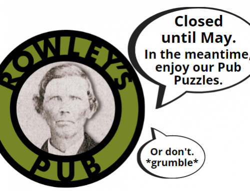 NEW! Pub Puzzles from Rowley's Pub